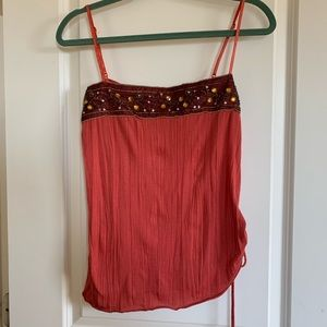 Honey punch tank top with floral gem design
